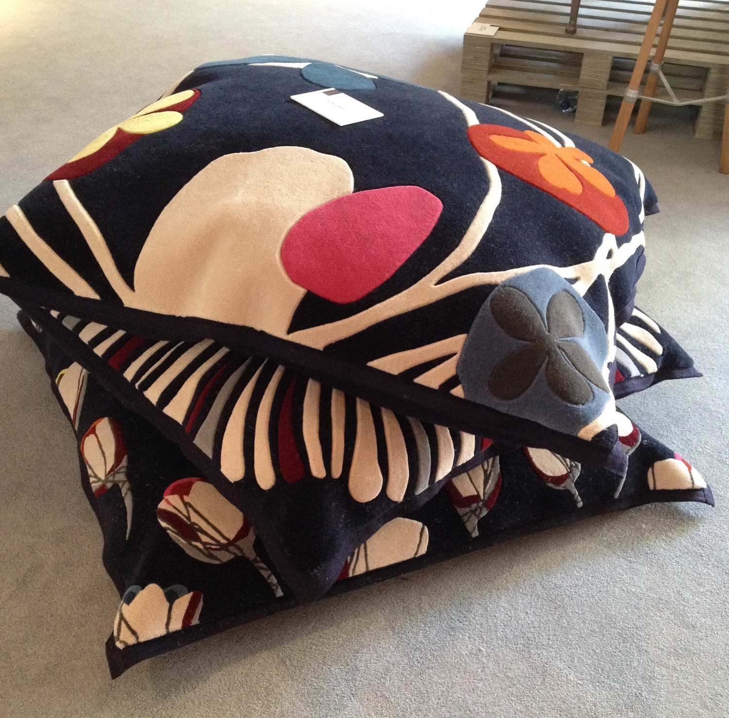 Tuft Limited Editions floor cushions by  Maud Designs .