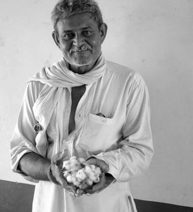 Kala Cotton farmer, photo courtesy of Khamir.org