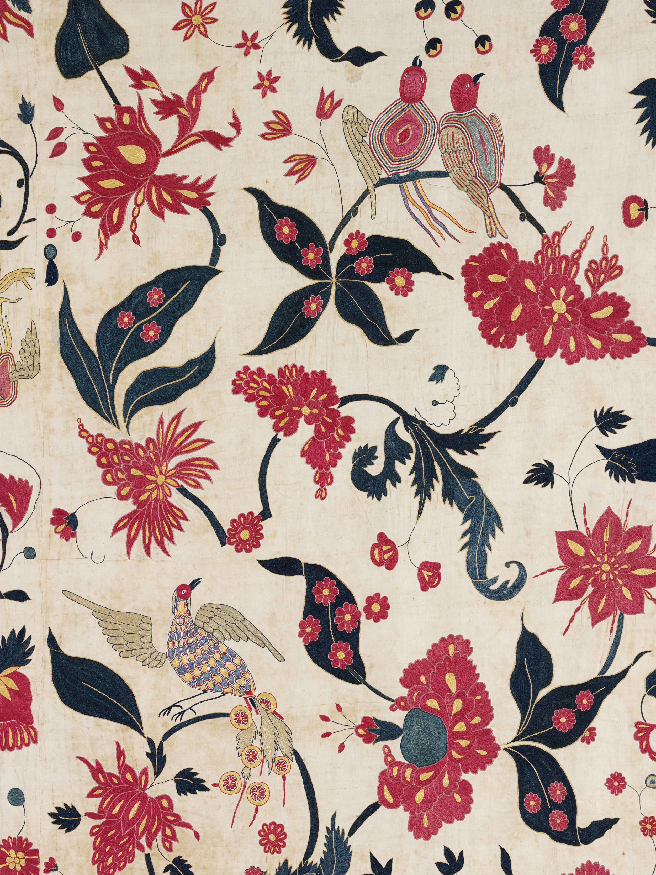 Wall hanging (detail), cotton  appliqué , Gujarat for the Western market, ca. 1700, Victoria and Albert Museum, London
