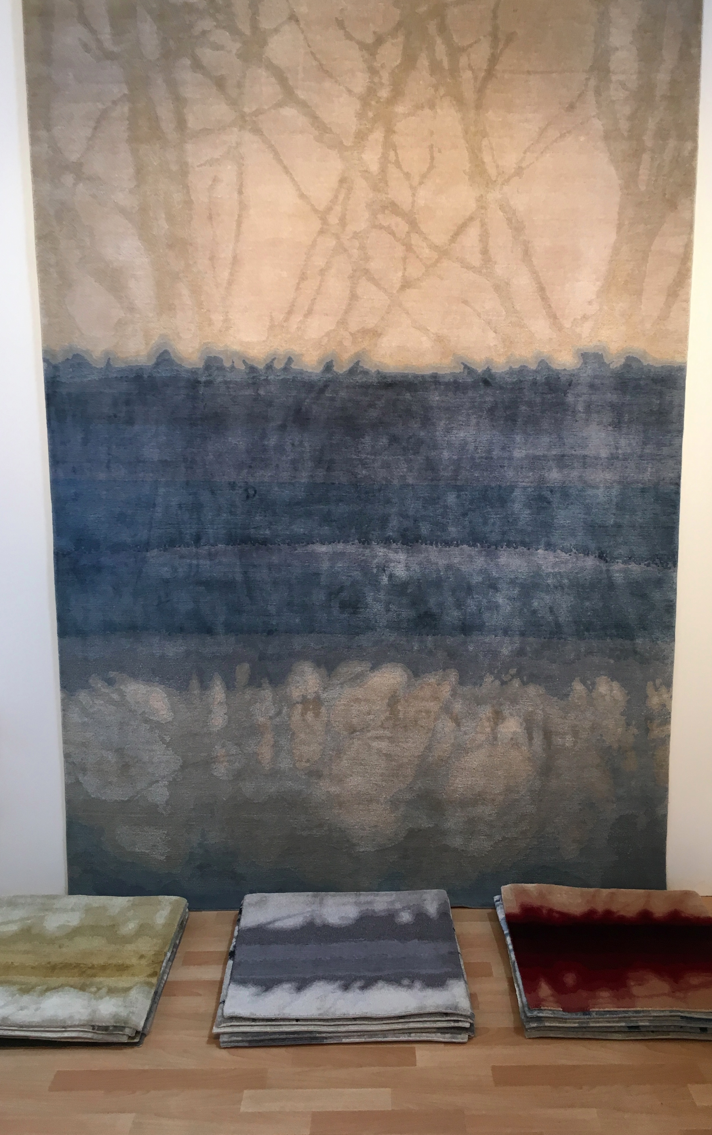 Tania Johnson Design  exhibited pieces from her beautiful Journeys in Colour collection of hand knotted rugs, inspired by her photographs of light, shadows and reflections.  She works with makers in Nepal, supported by humanitarian organisation  Good Weave .