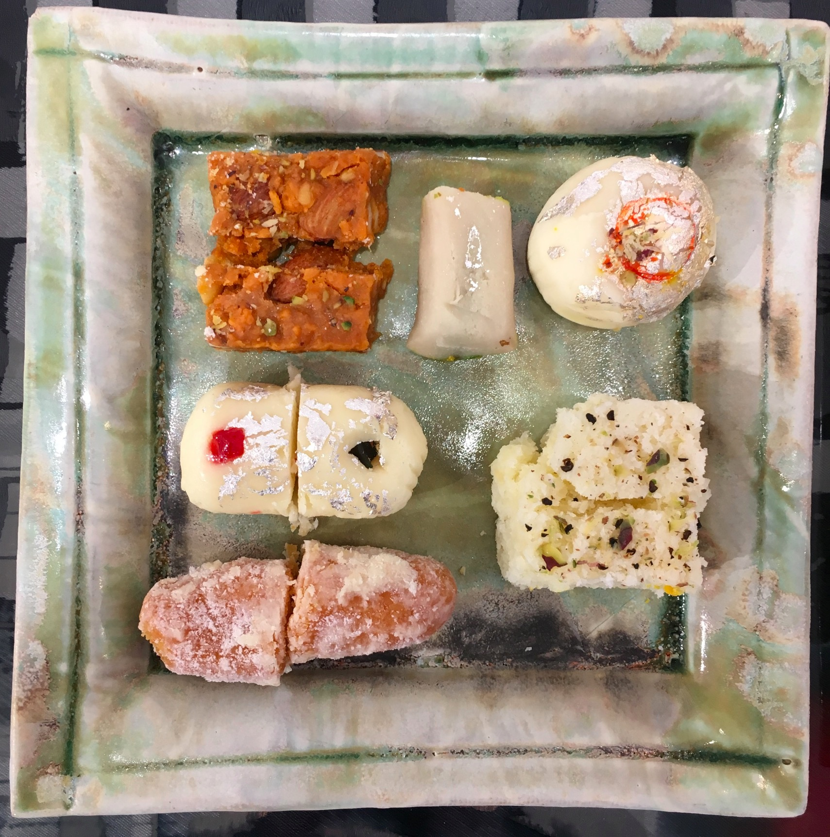 Graham brought these amazing Indian sweets from the East End of London to the private view!