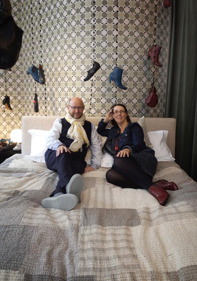 Graham Hollick and Karen Sear Shimali of Stitch by Stitch