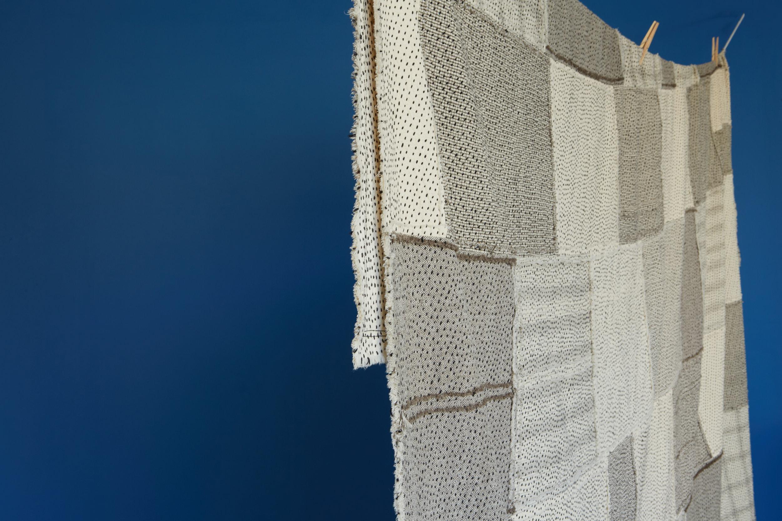 Raw Chindi Quilt in kala cotton fabrics