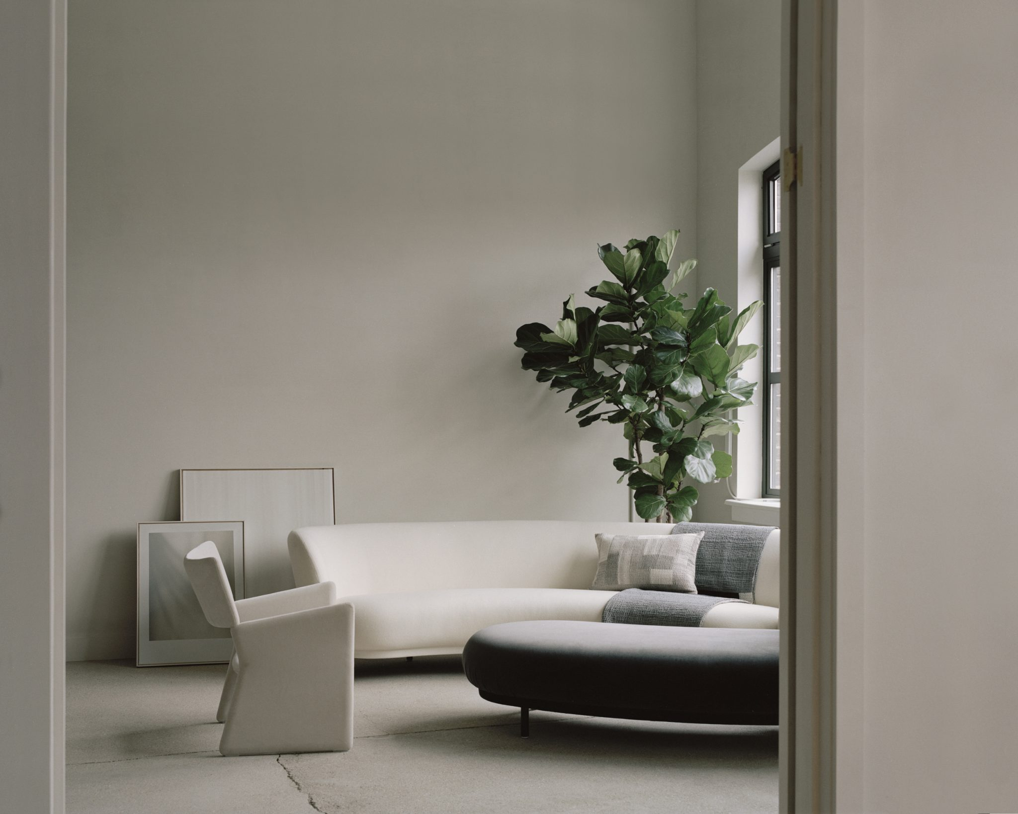 House of Grey's new studio space, with Stitch by Stitch Chindi textiles. Photo: Rory Gardiner