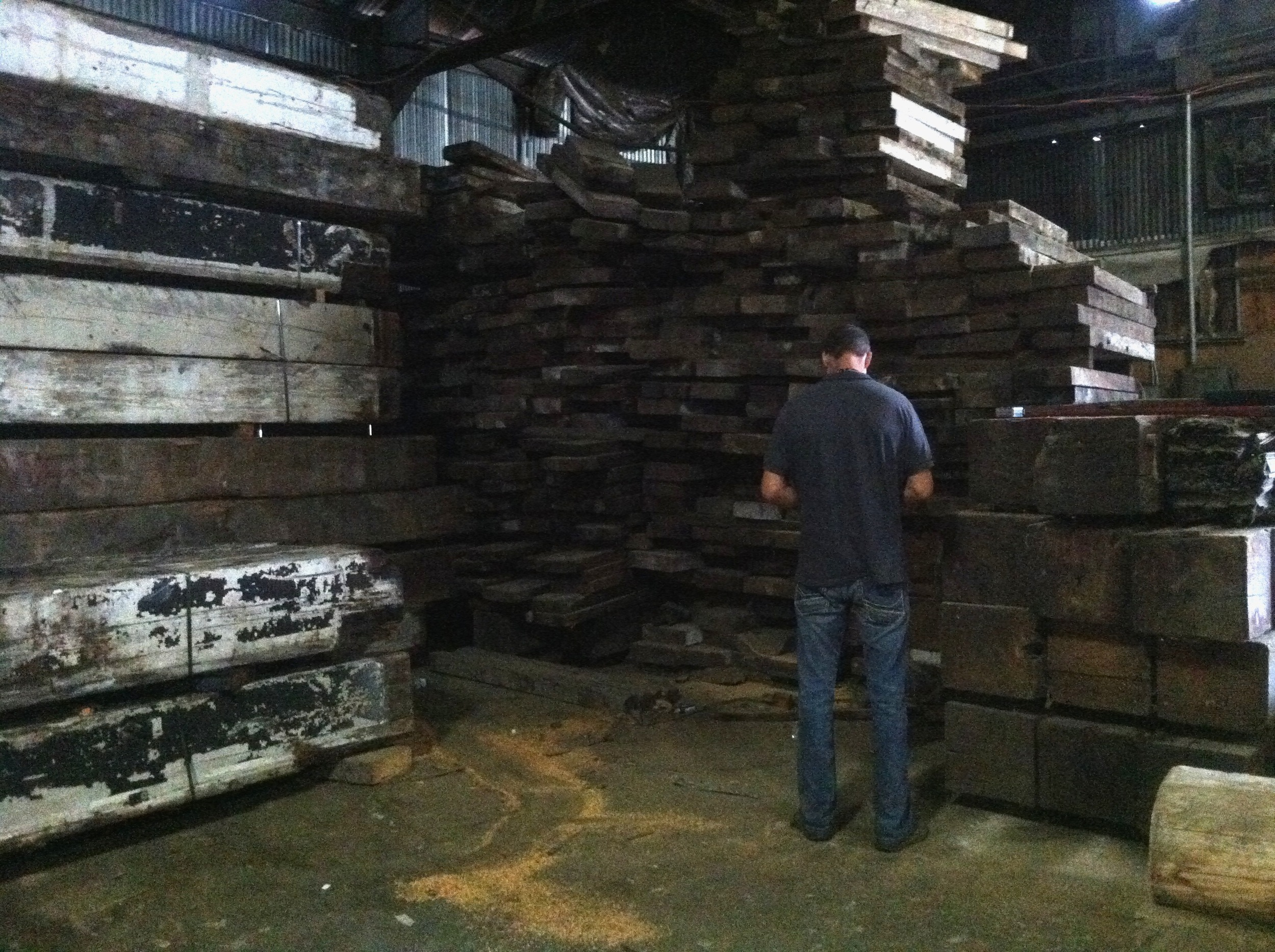 At the lumber yard
