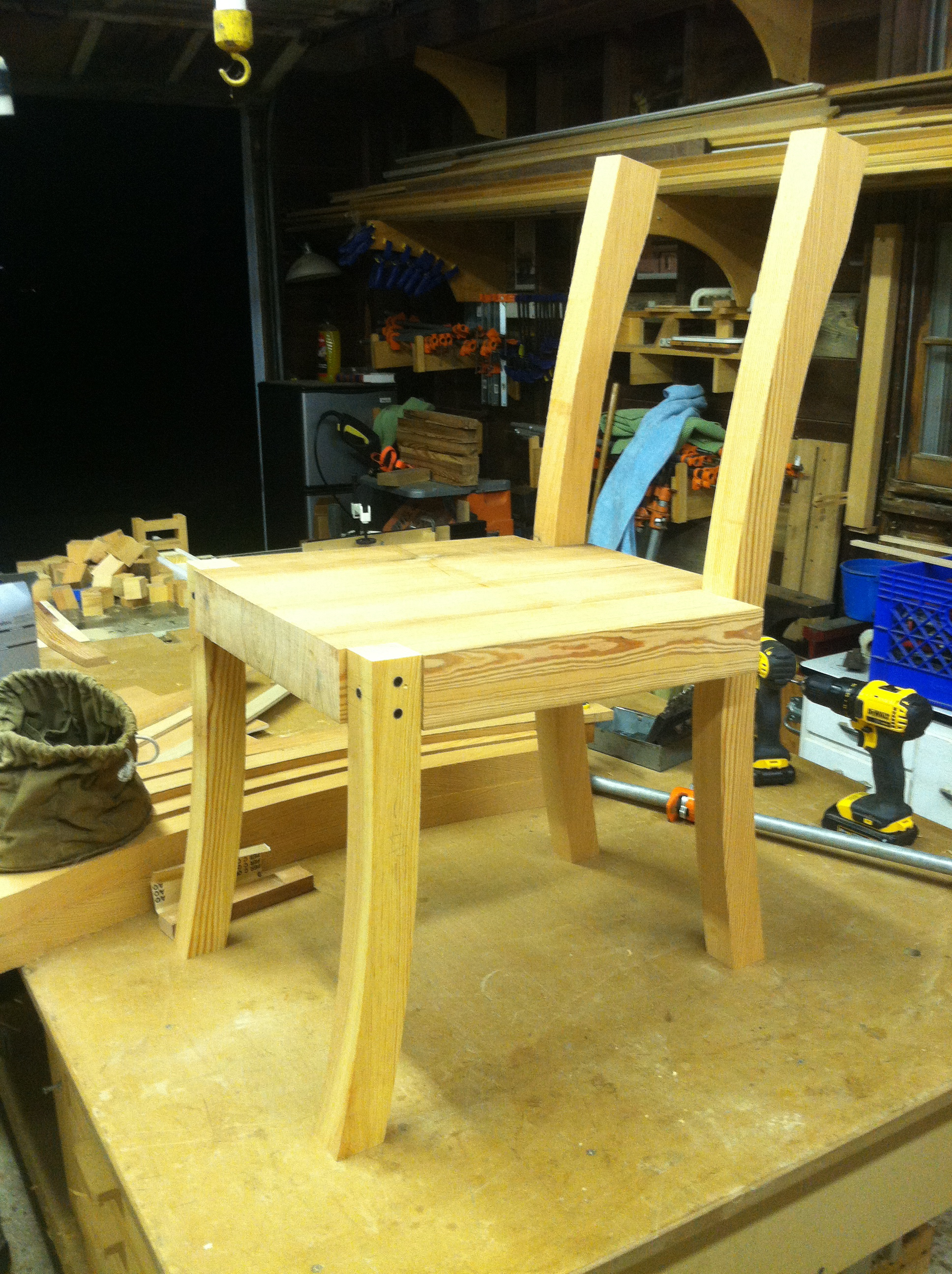 Chair, under construction
