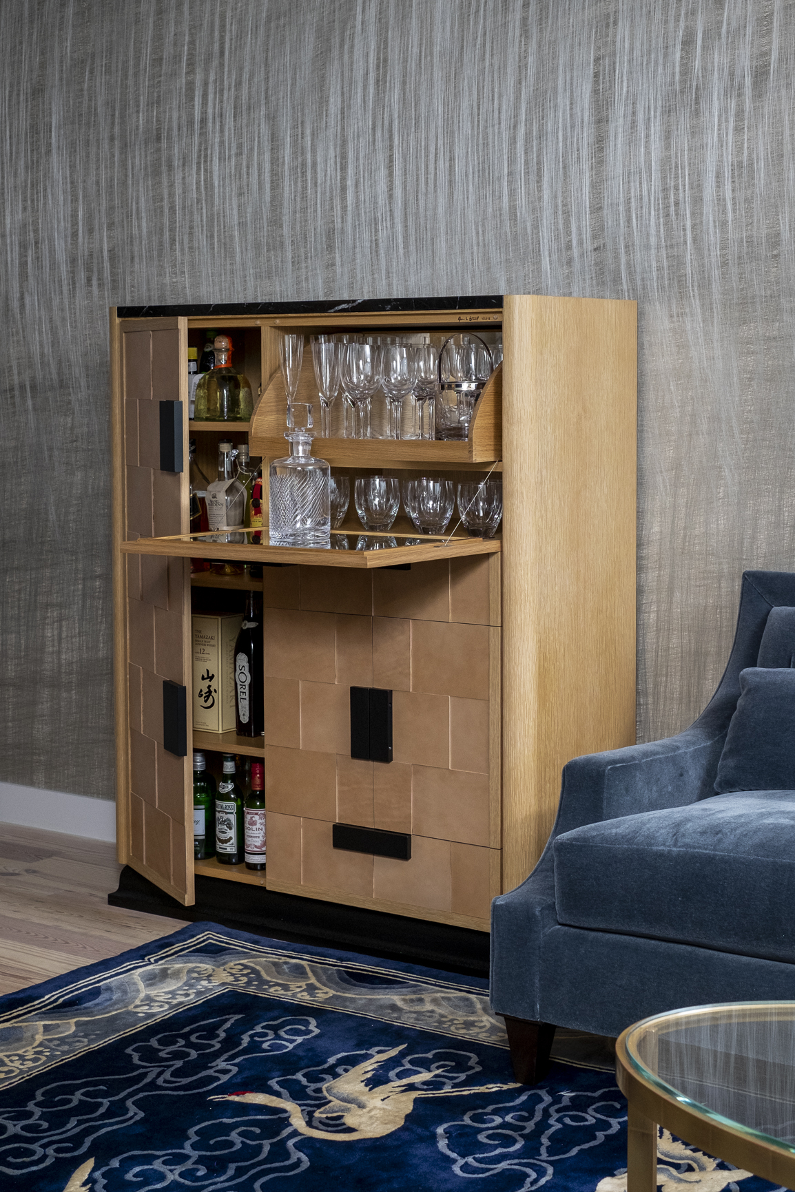 Art Deco Bar Cabinet [open]