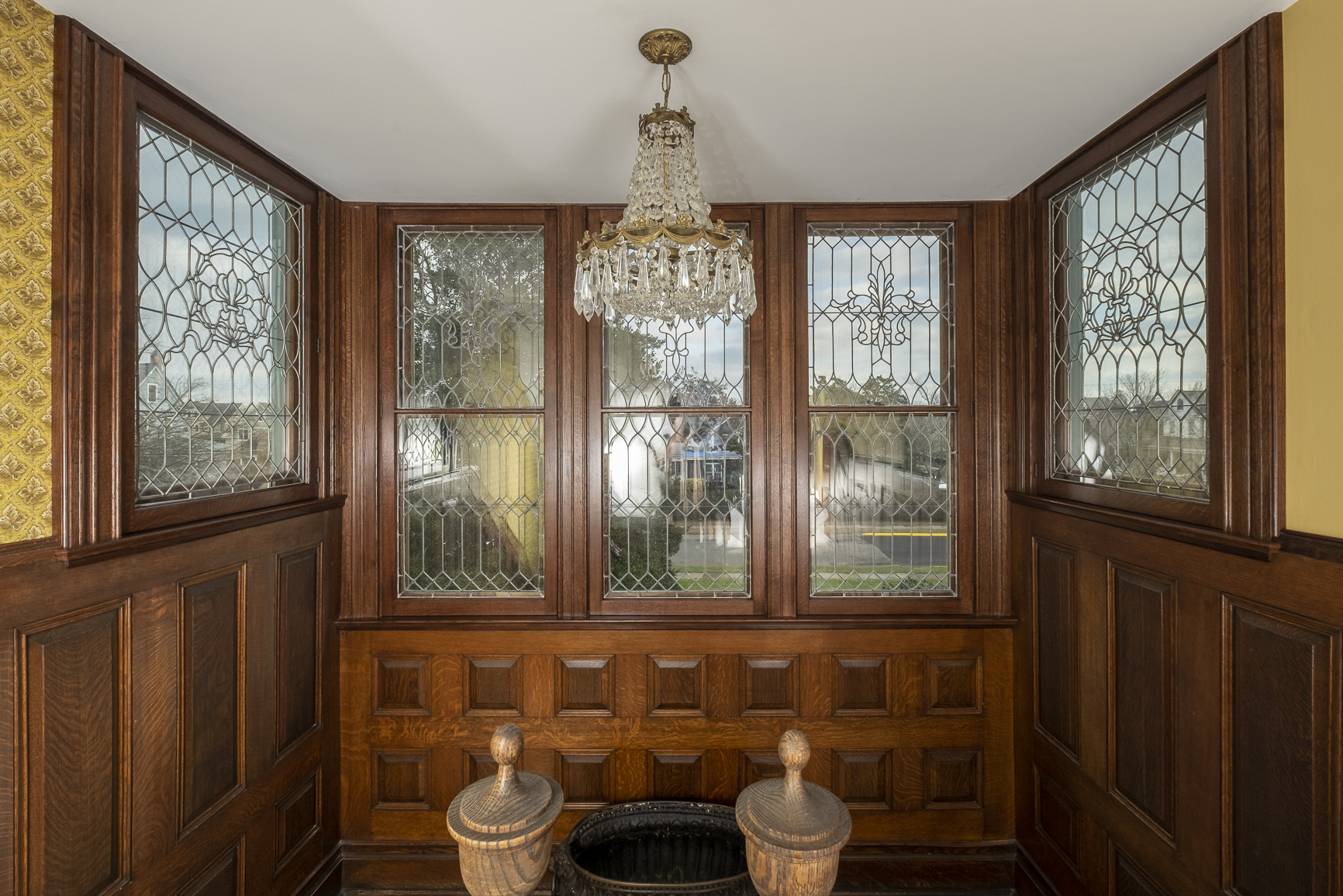 Restored Leaded Glass Windows