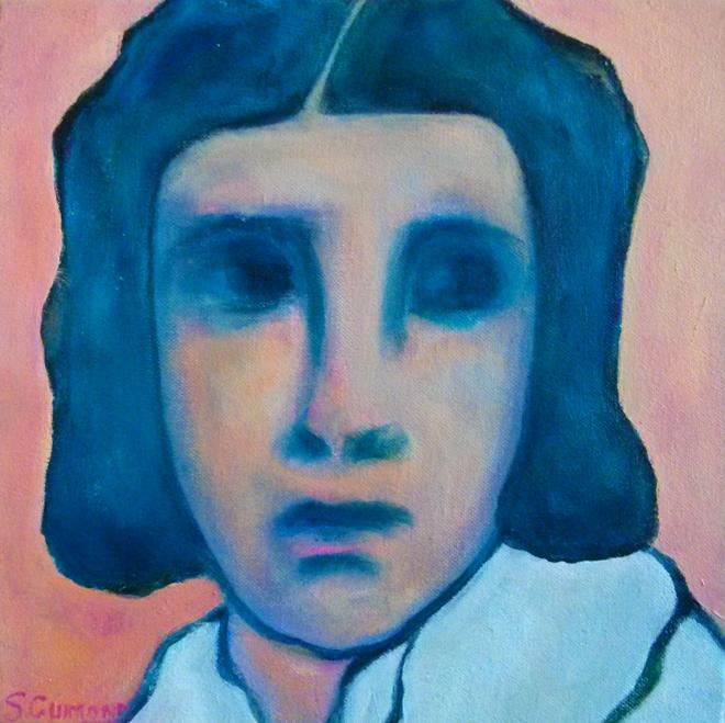 Fresh from the art table: Louisa, 12x12, acrylics on canvas, © Stephanie Guimond