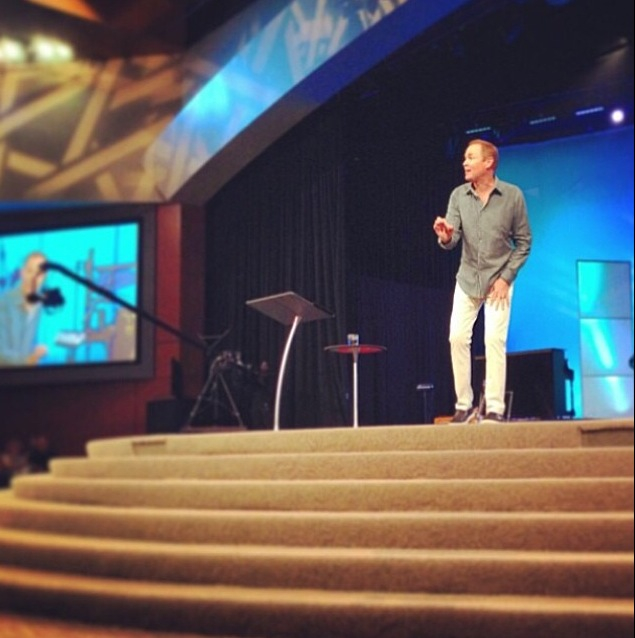 My pastor Bayless Conley preaching my soul happy. (photo credit: Cottonwood Church Instagram feed)