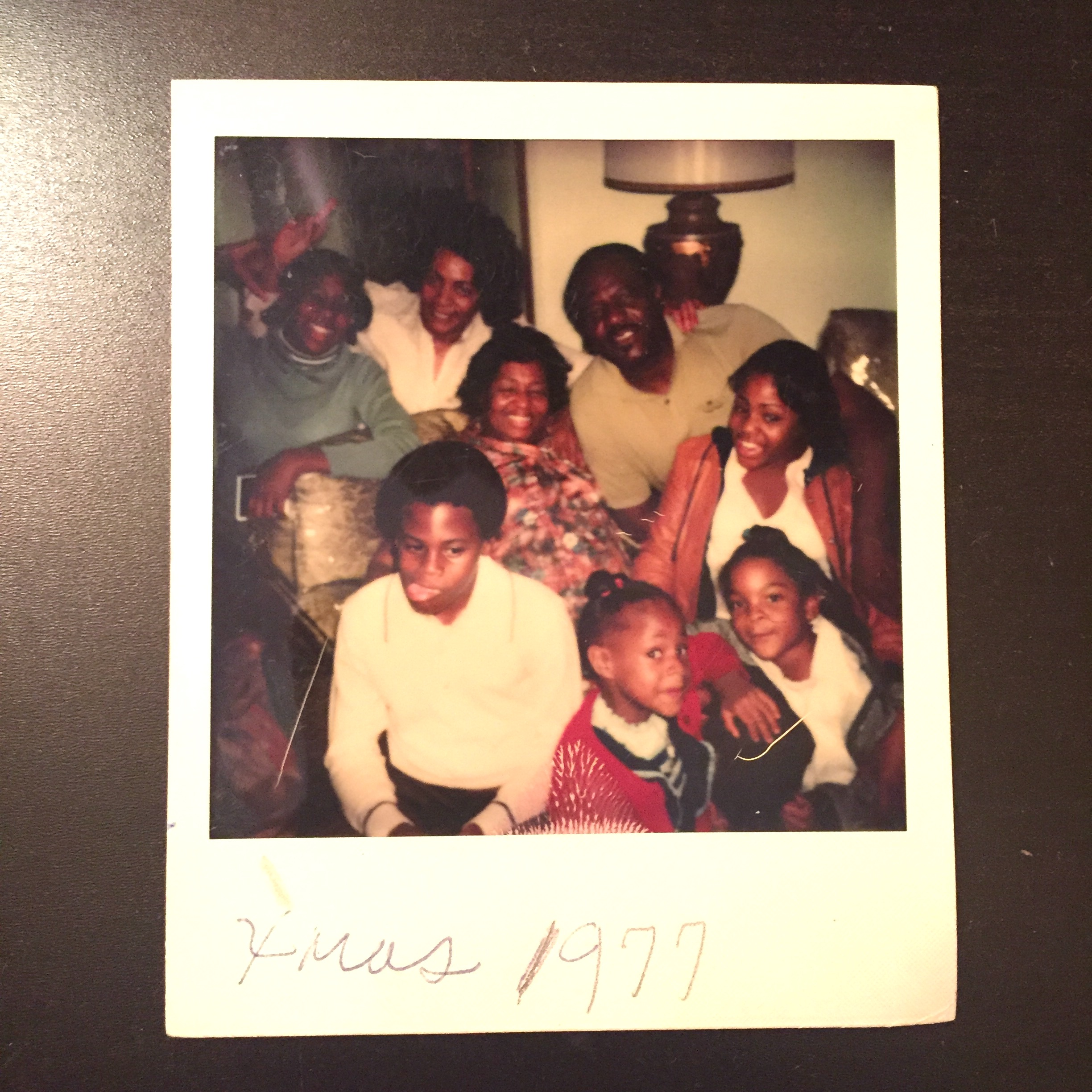 Me (bottom right), my grandparents in the middle along with an aunt and my cousins. Fun times!