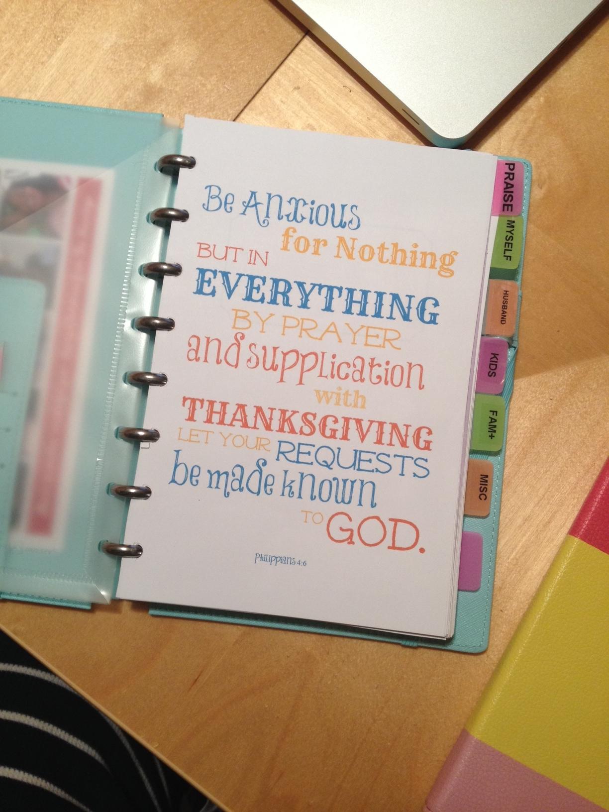 prayer notebook