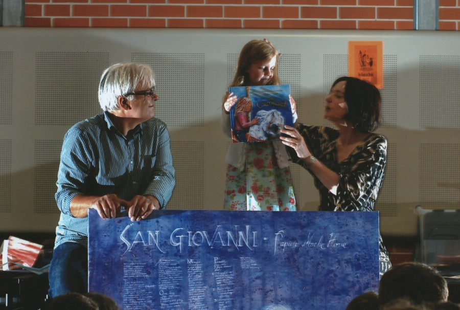 WITH WALTER DI QUAL AND AVA, READING 'THE CAROUSEL' AT ANNANDALE NORTH PUBLIC SCHOOL 2011.