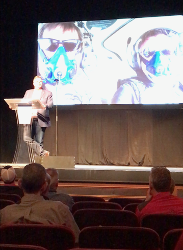 Dion Weisler's presentatin included images flying with JATO Flight instructor extraordinaire Roy Richardson. Roy specializes in Destination Flying.