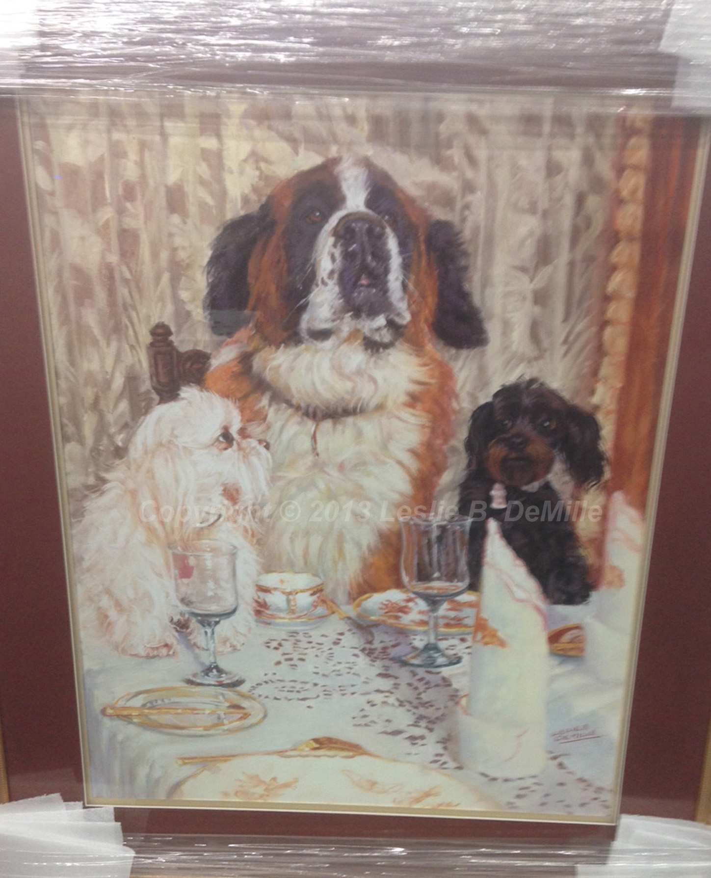 "Dog's Life   Original Pastel. Framed. 22"" X 28"" $1,800"