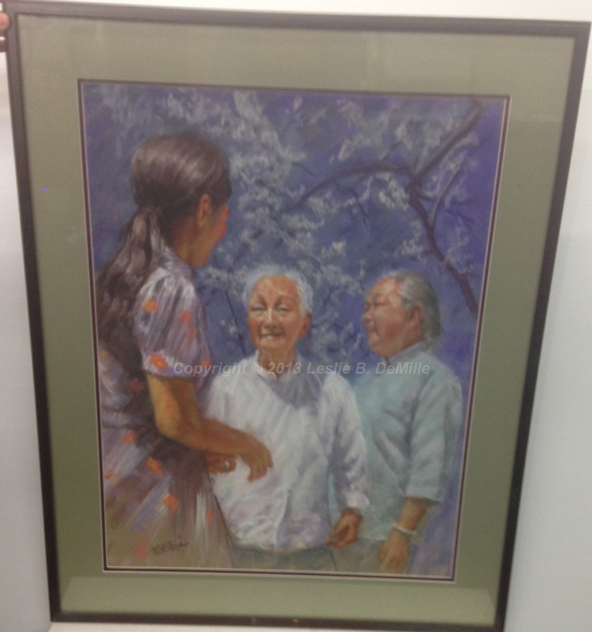 "Oriental Ladies   Original Pastel. Framed. Framed. 28"" x 21"" $1,800"