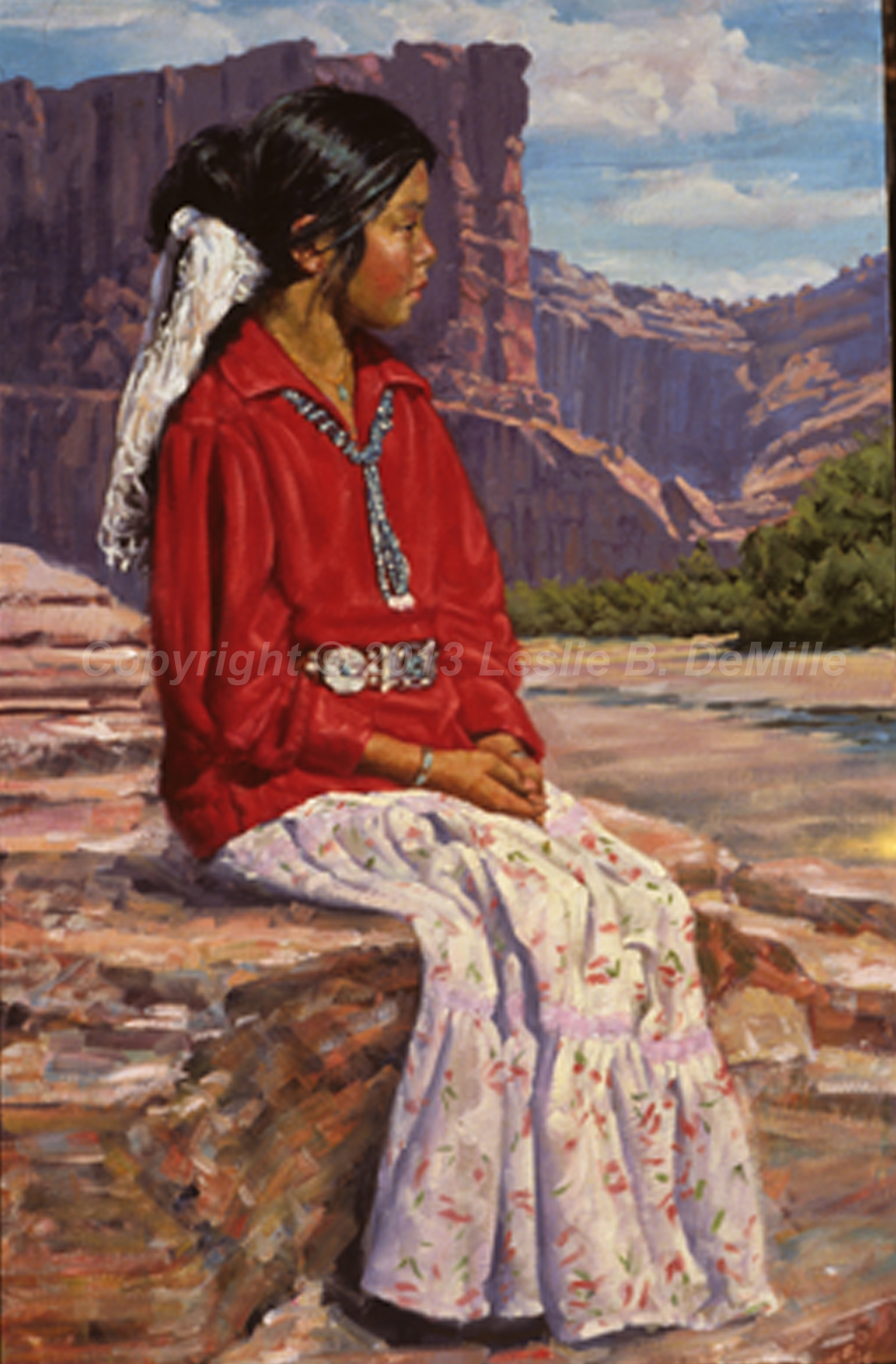 From Canyon de Chille, Pastel (11x16)