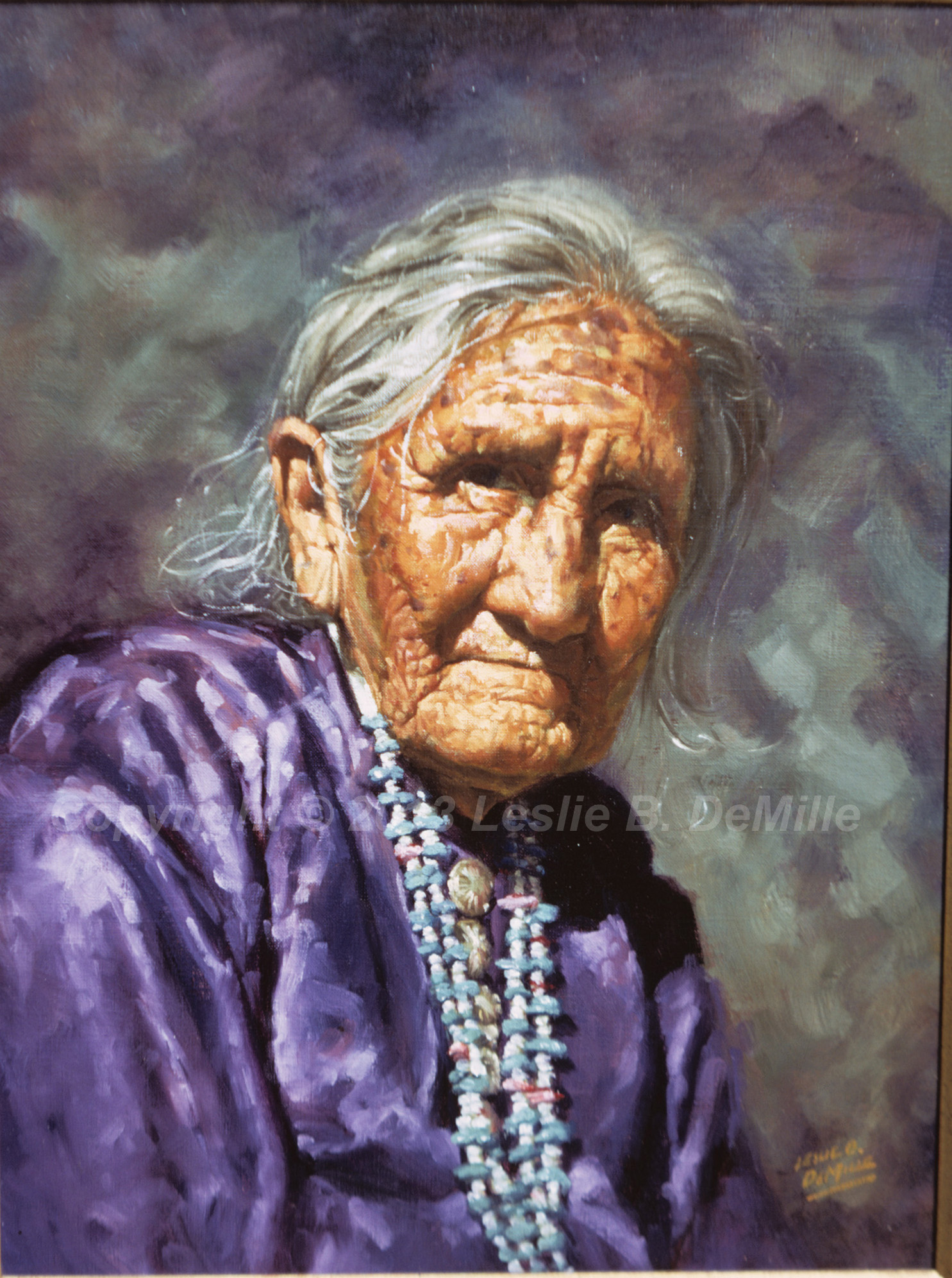 Old Woman, Oil (12x16)
