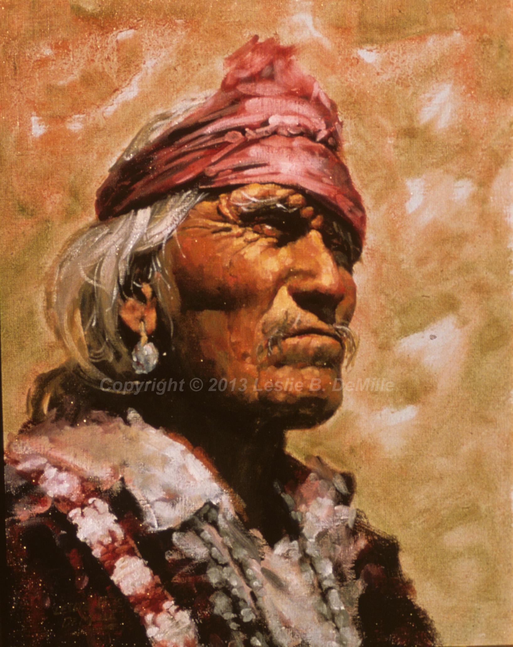 Navajo Indian 1, Pastel (11x14)