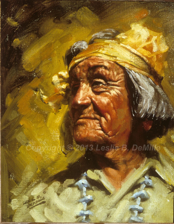 Navajo Indian 3, Oil (11x14)