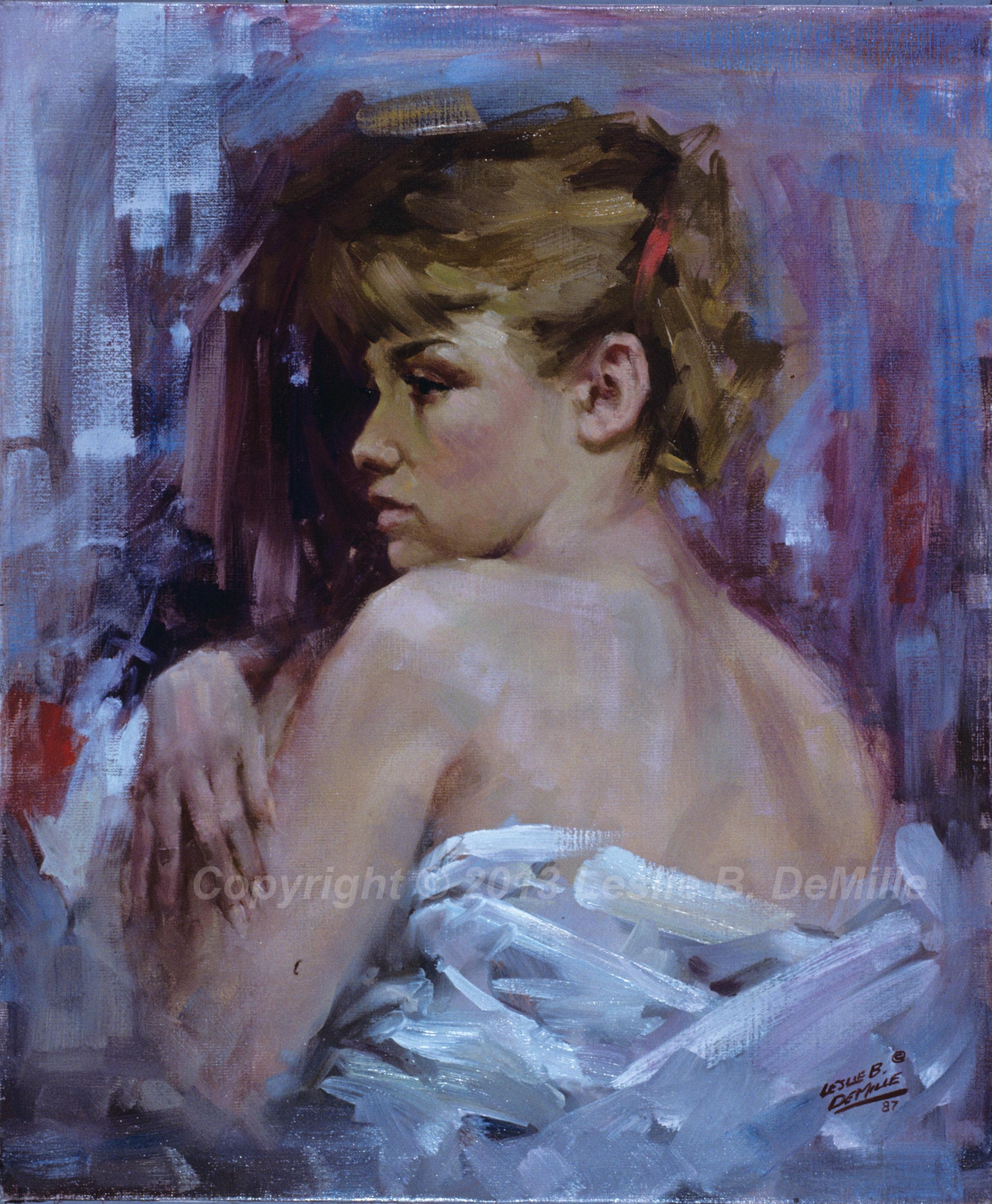 Half Nude, Oil 1987 (11x14)