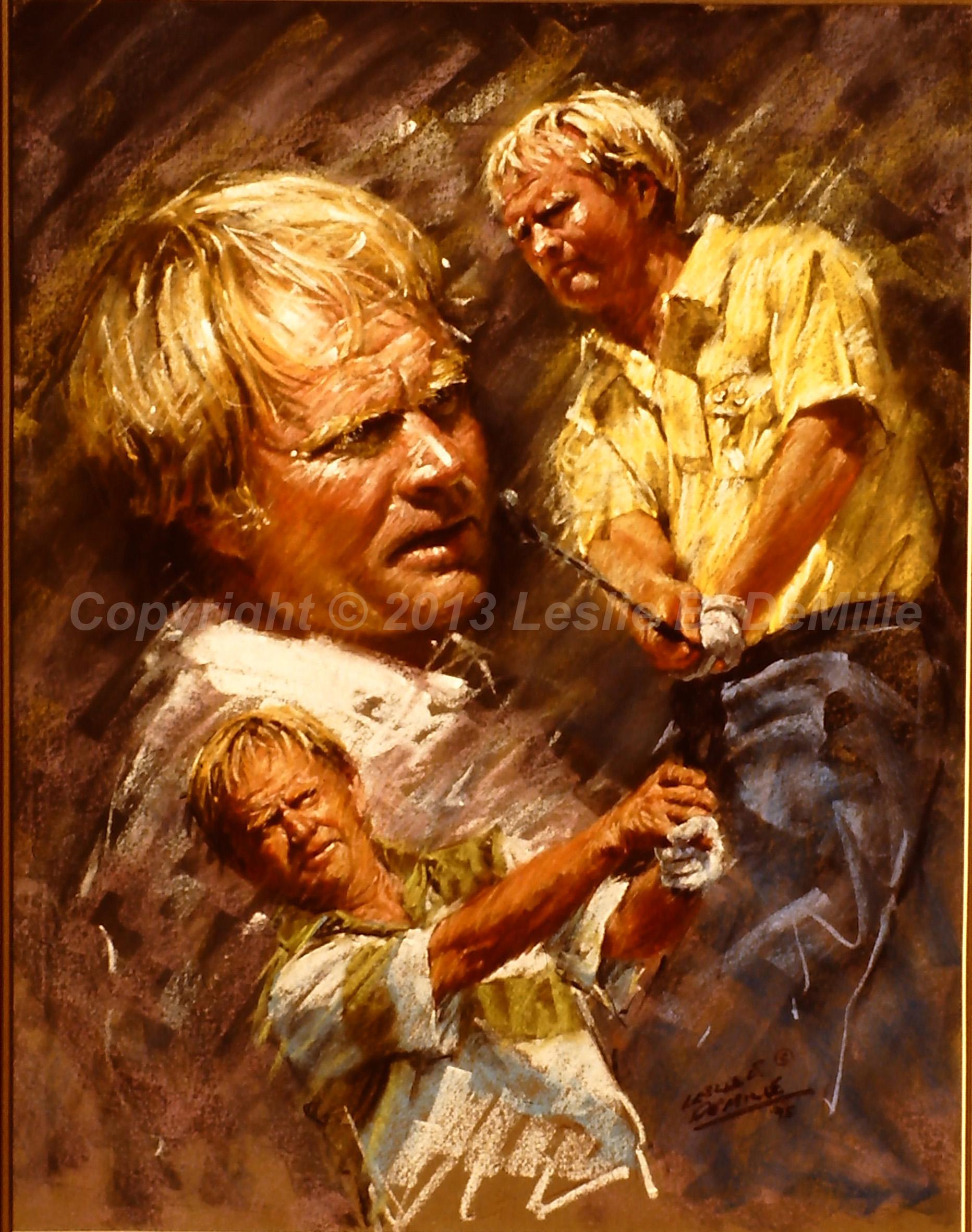 Jack Nicklaus: The Golden Bear, Oil 1994 (11x14)