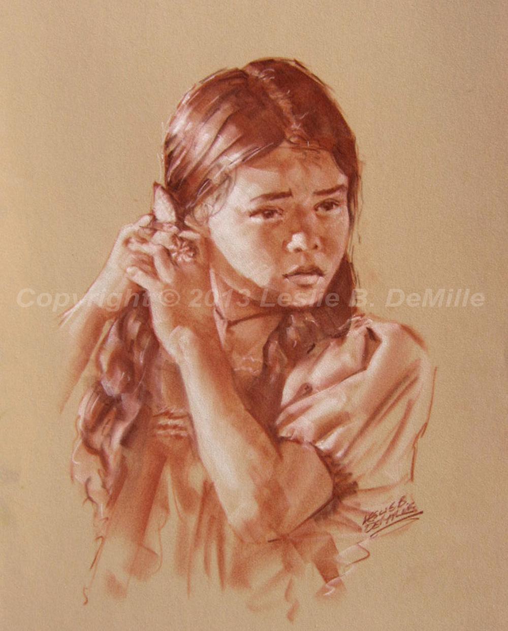 Hair Ties, Sepia (11x14)
