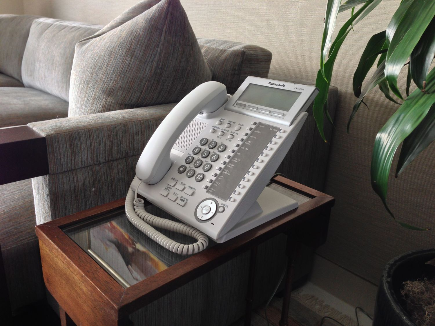 The apartment's phone system is by Panasonic, chosen by us because it is simple for the end user, but also full of features.