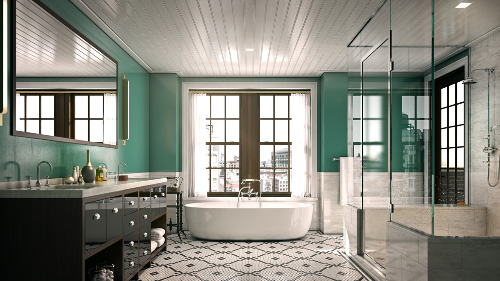 We recommend that everyone put a ceiling speaker over the tub and in the shower-- because that's living.