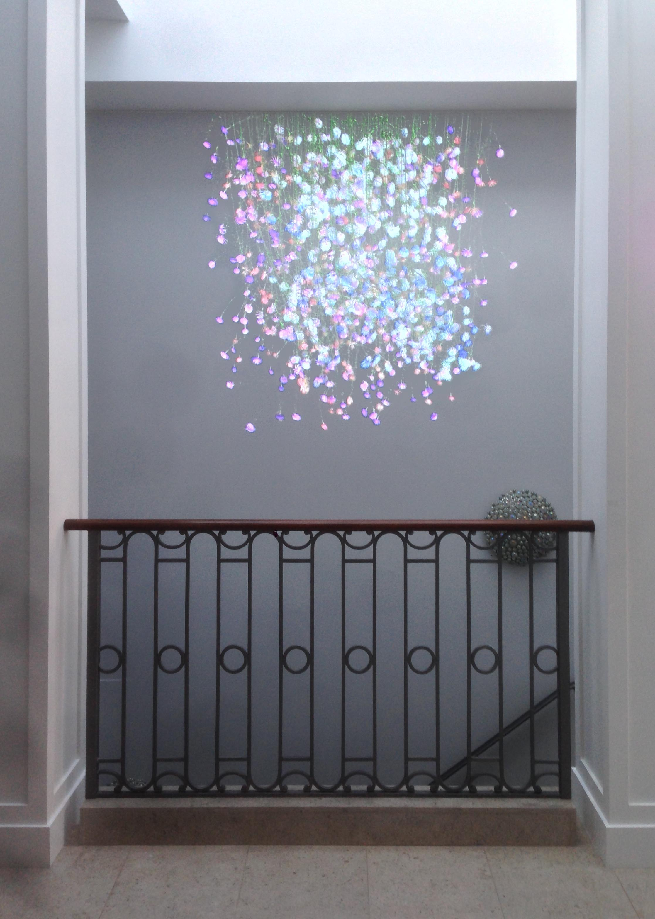 This projection art piece currently lives in a private home.