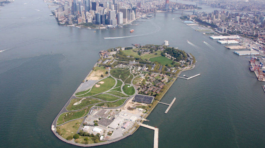 View overlooking Governors Island, NYC