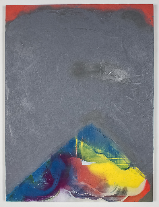 """All the Unacceptable Things , 2013, acrylic, spray paint and sand on panel, 48""""x36"""", POR"""
