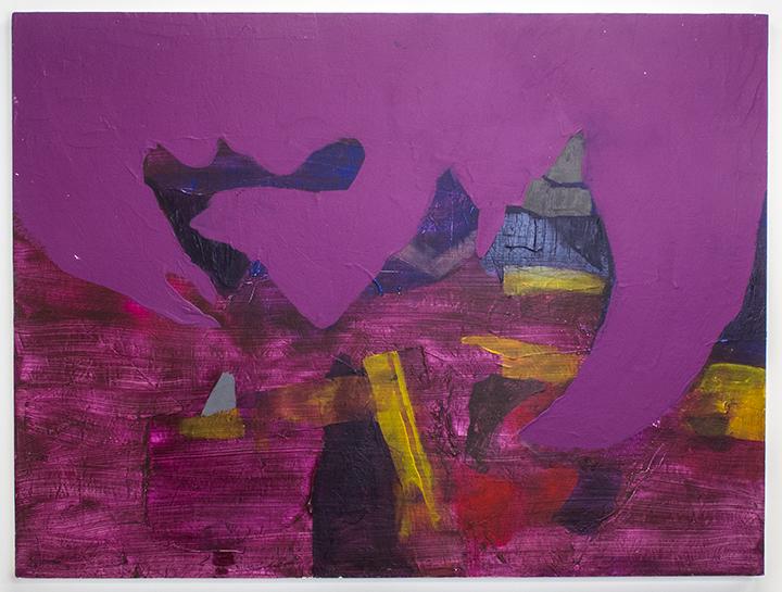 """Castle Devour , 2013, acrylic on panel, 36""""x44"""", POR"""