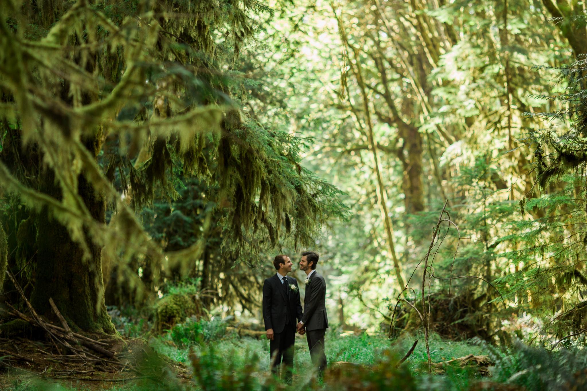 Daniel + Geoffrey | Lake Crescent Wedding