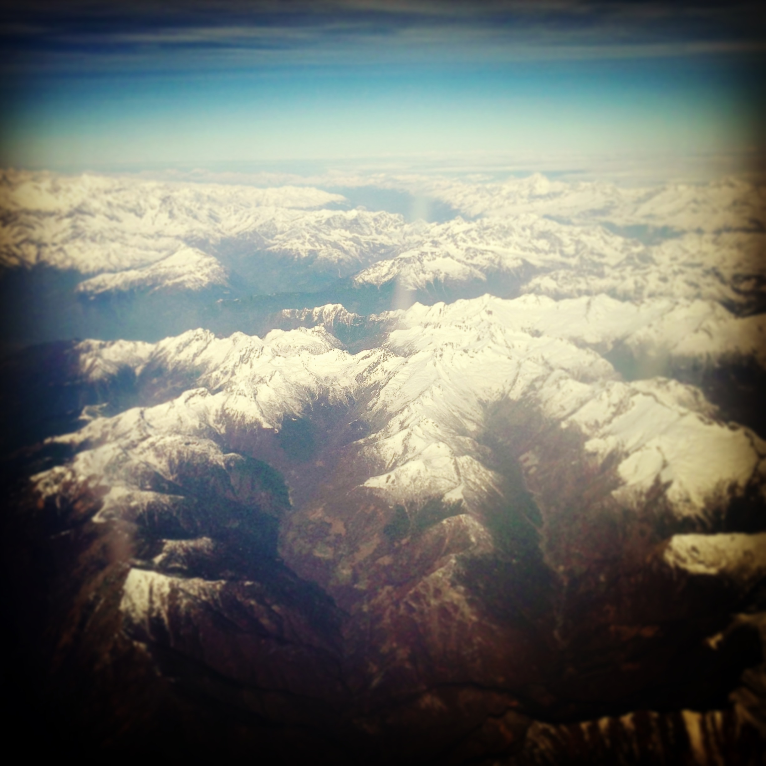 A. Why yes, they are. Camera phone pic taken while flying over the Alps from Germany into Milan.