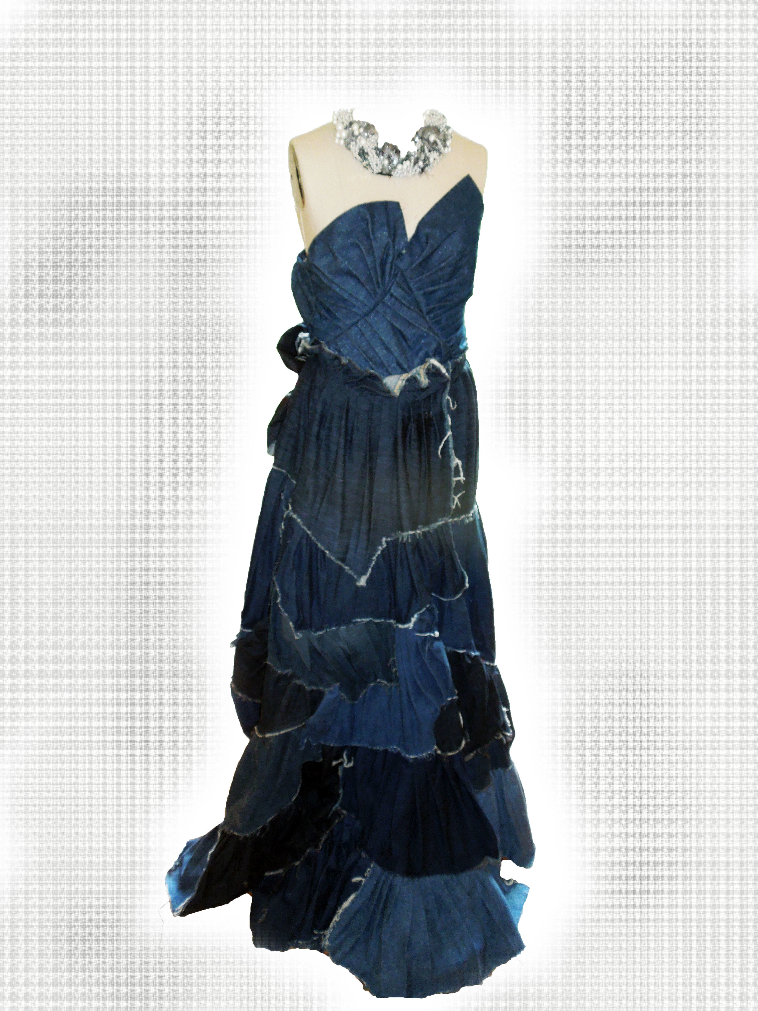 Blue Jean Couture Gown