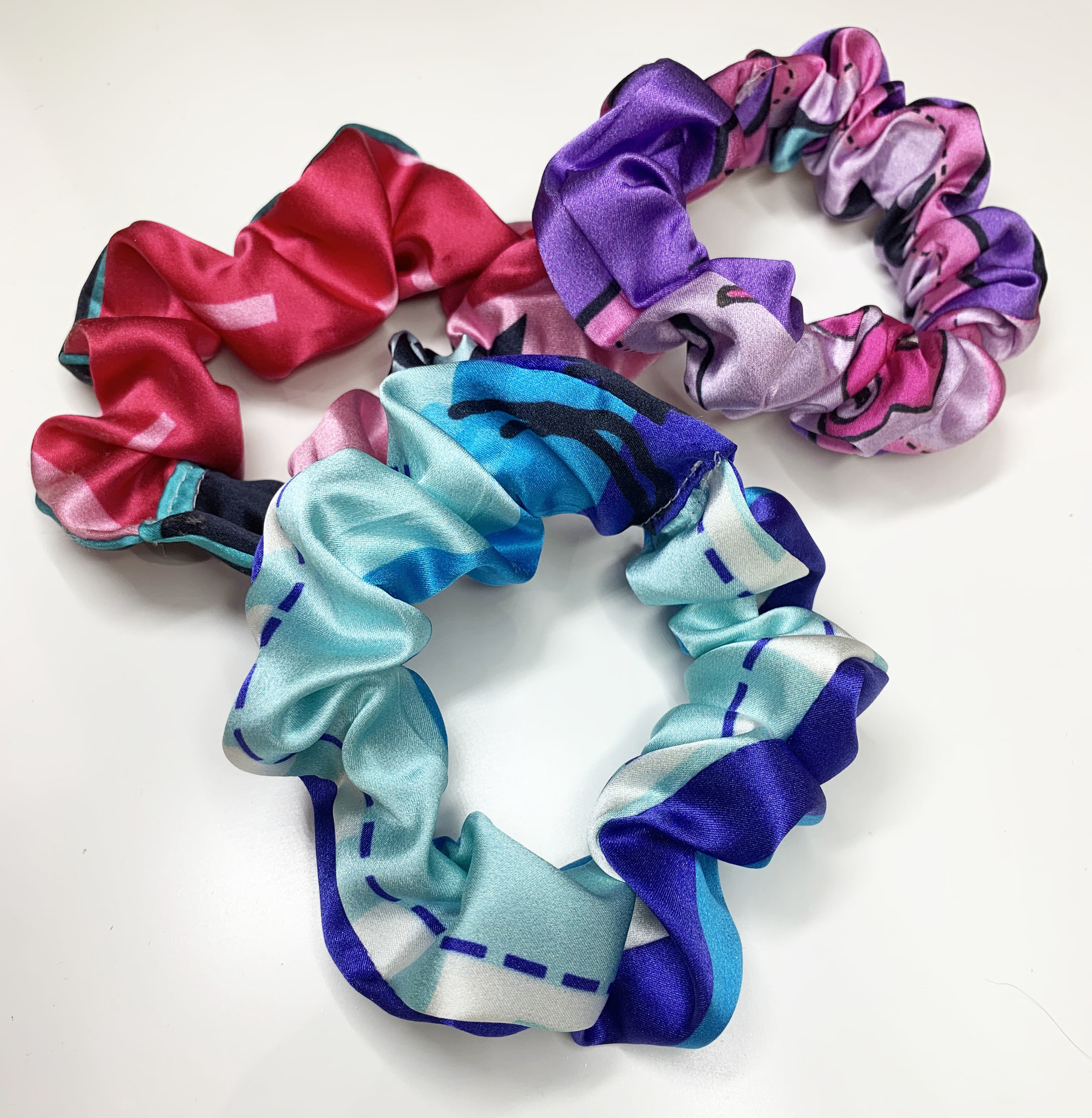 100% Silk Remnant Scrunchies
