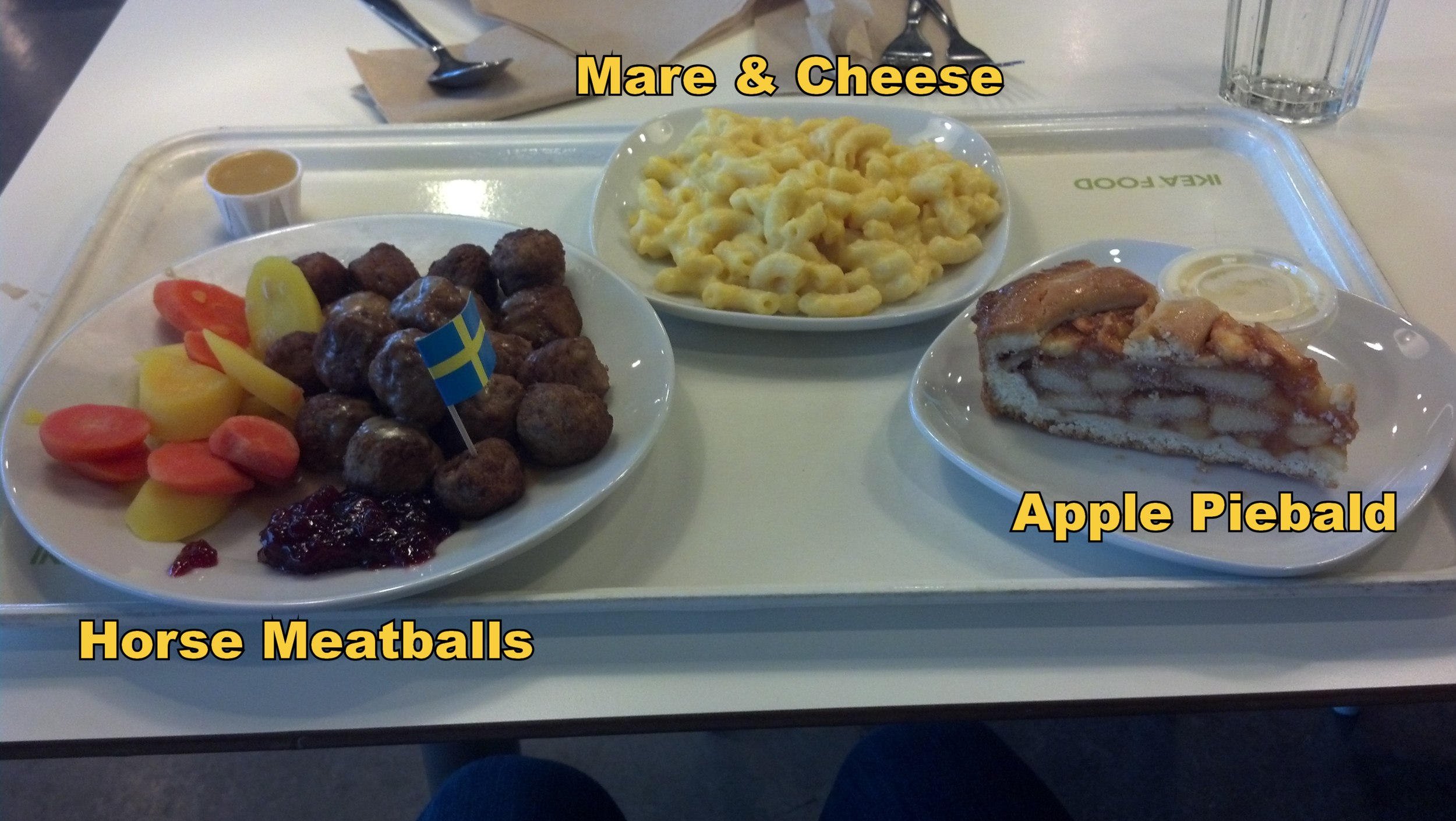 The IKEA Triple Crown. It's all fun and meatballs, until you find out you ate Hidalgo.