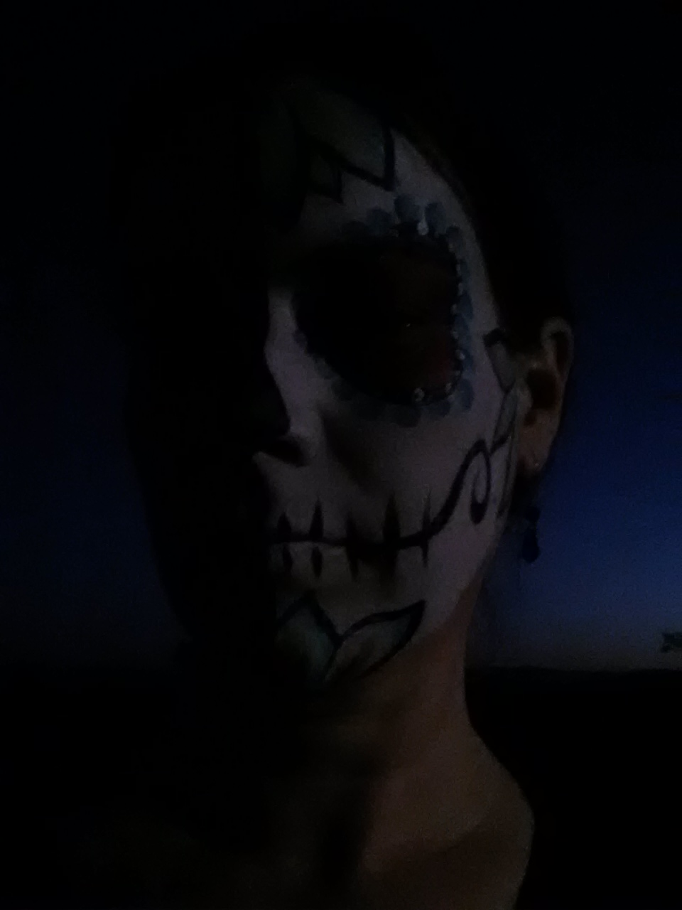 selfie as calavera