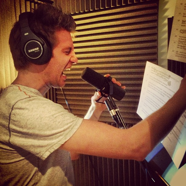 My buddy  Patrick Saulnier  laying down VO for the Bear Smart Project.