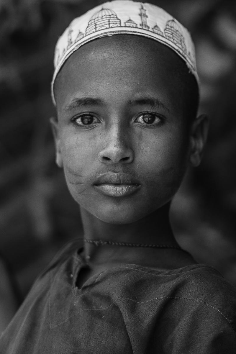 Retrato de un niño fulani