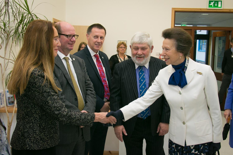 HRH The Princess Royal opens Shetland College UHI extension.