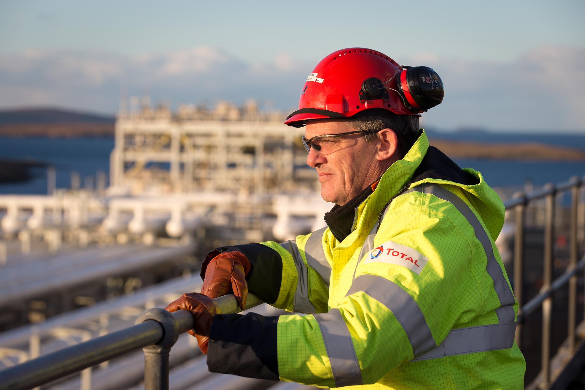 Shetland Gas Plant manager Dave Wink of  Total .