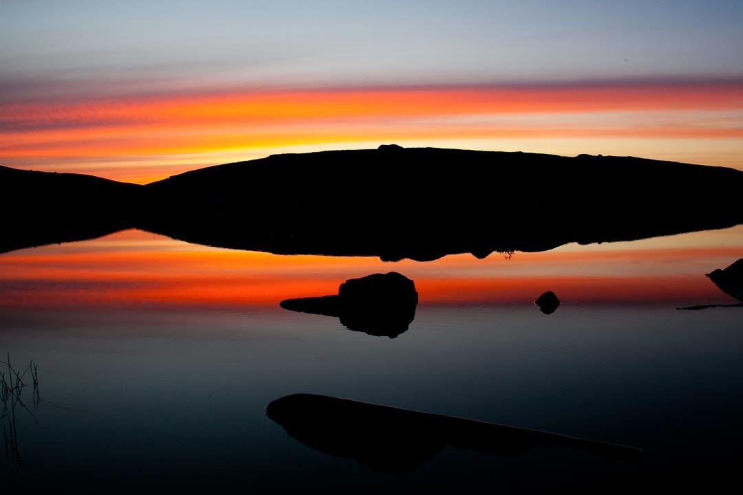 Sunset over Foula, Oxna, Shetland