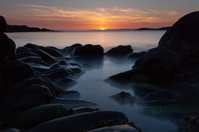 Sunset, Bridge End, Burra, Shetland