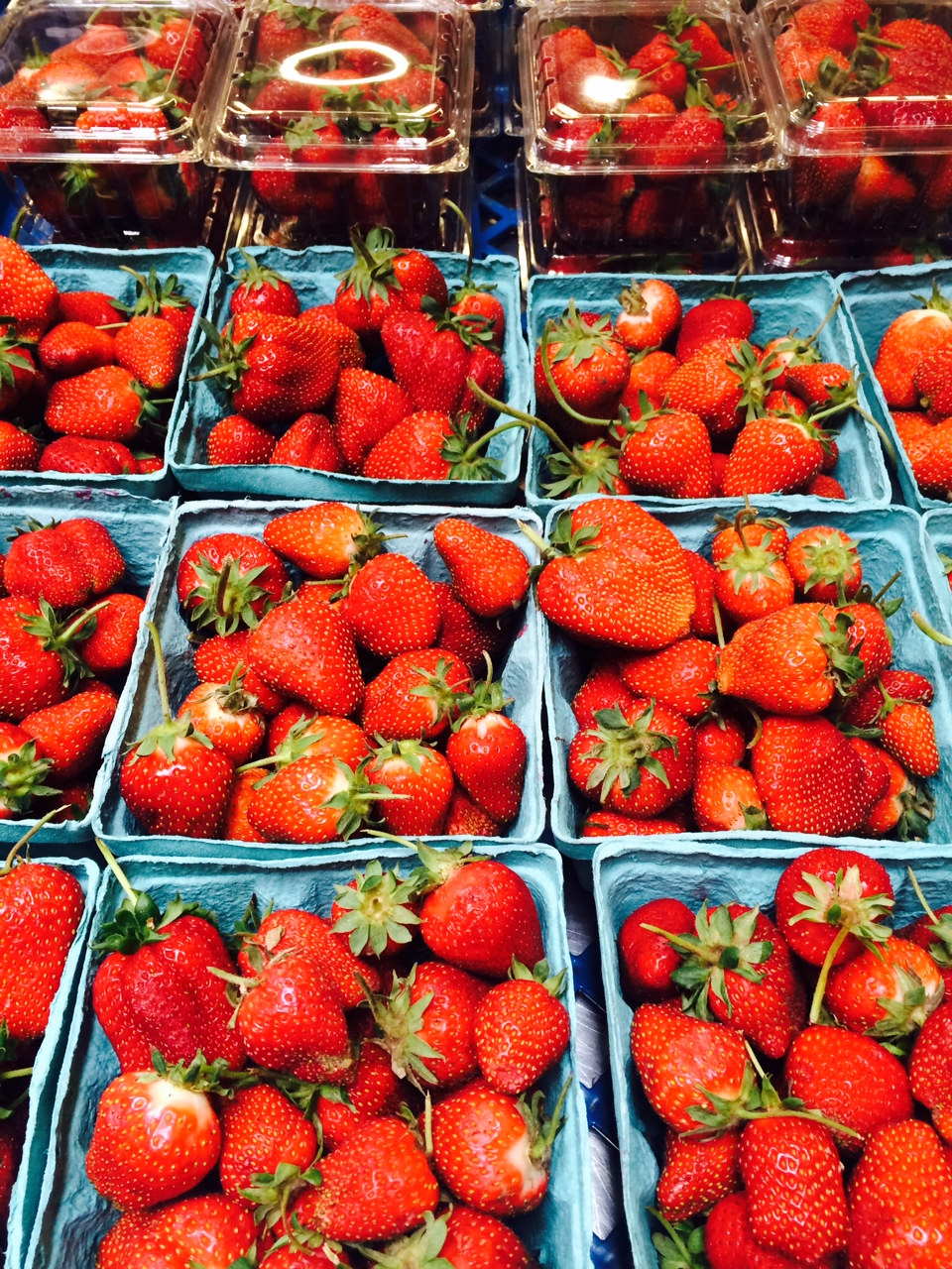 Our organically grown strawberries. Once you taste them, you'll never be satisfied with store bought berries again!