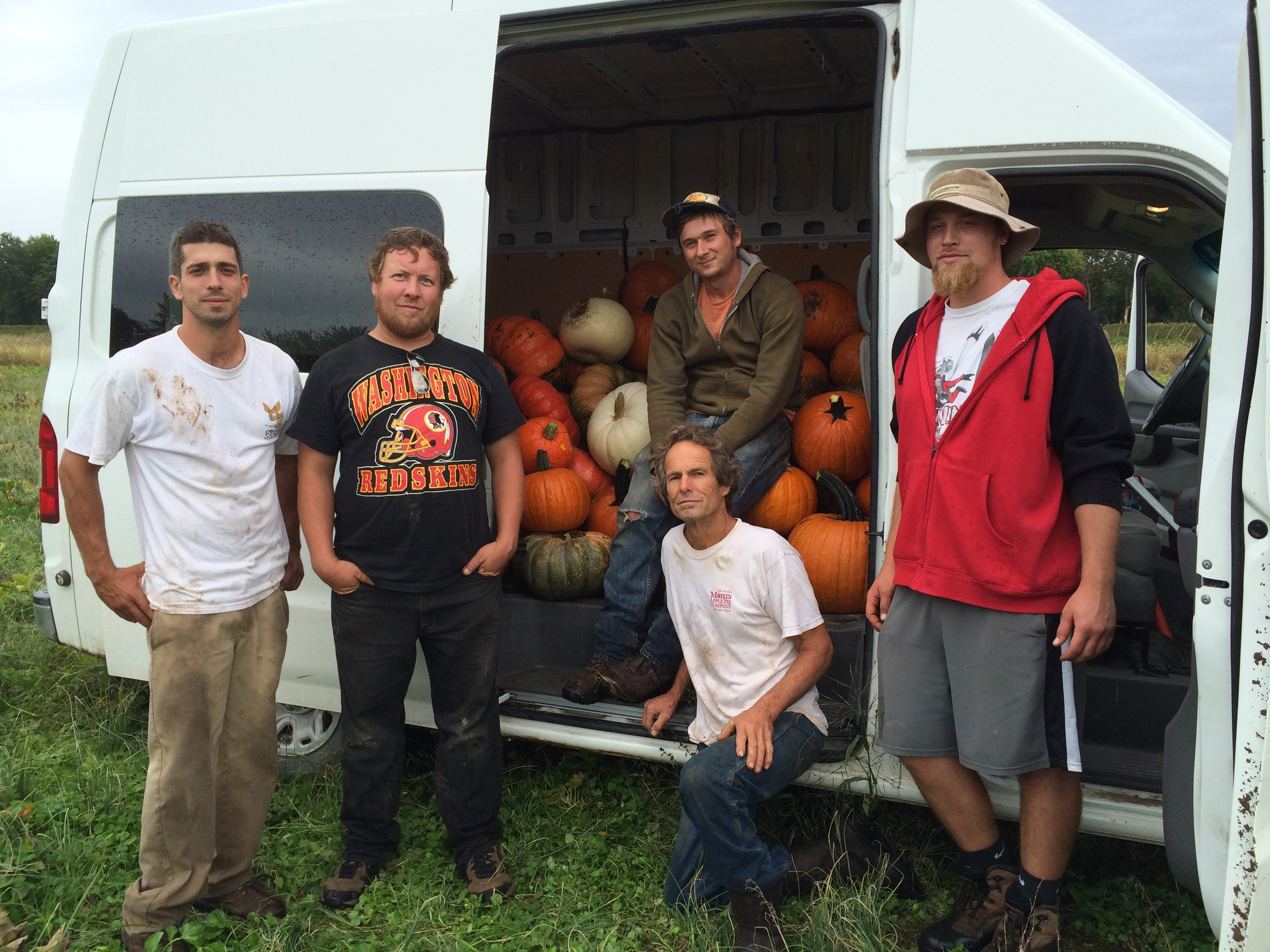 Our motley crew, just after loading up the van