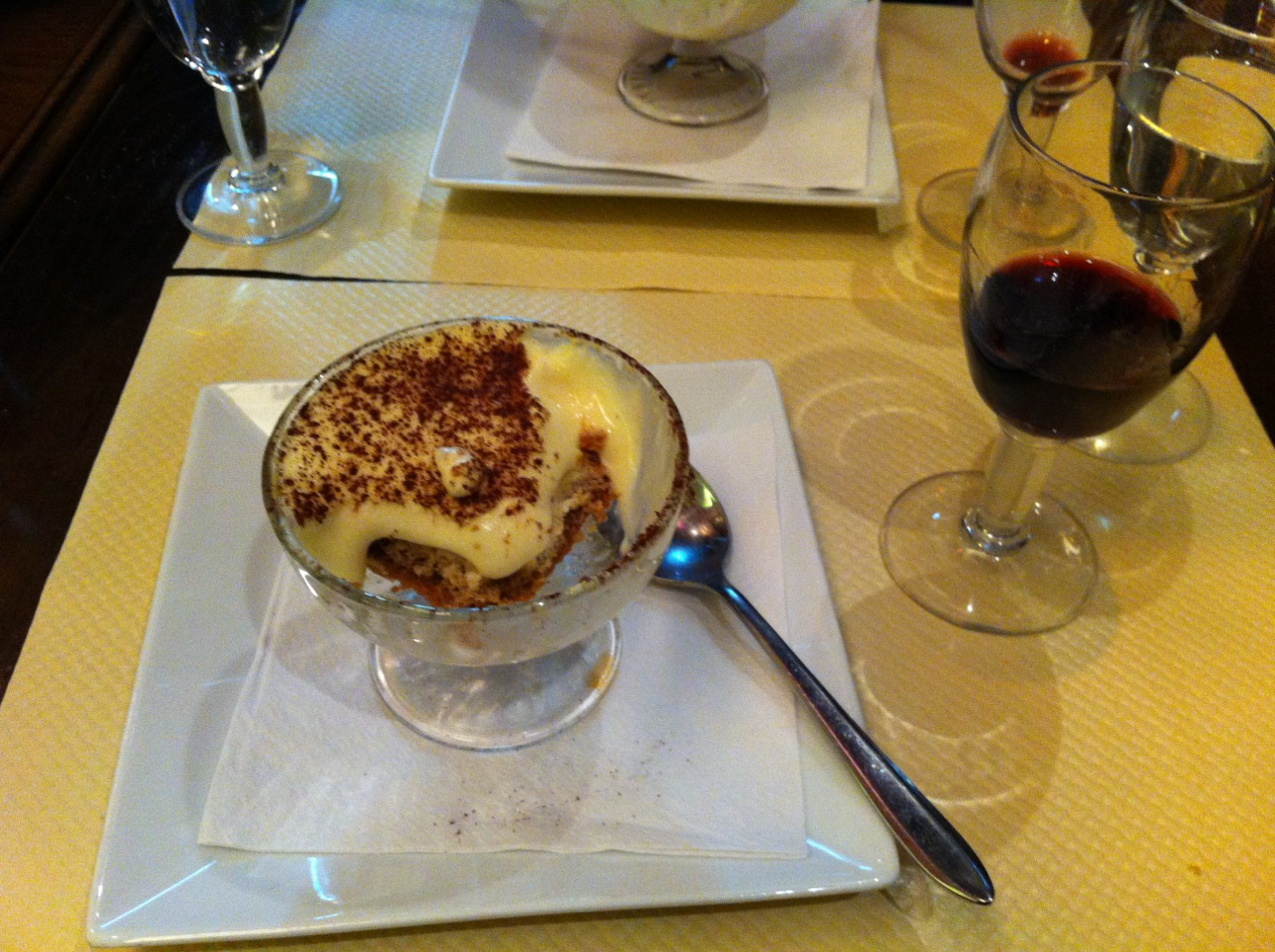 The tiramisu for dessert was delicious!
