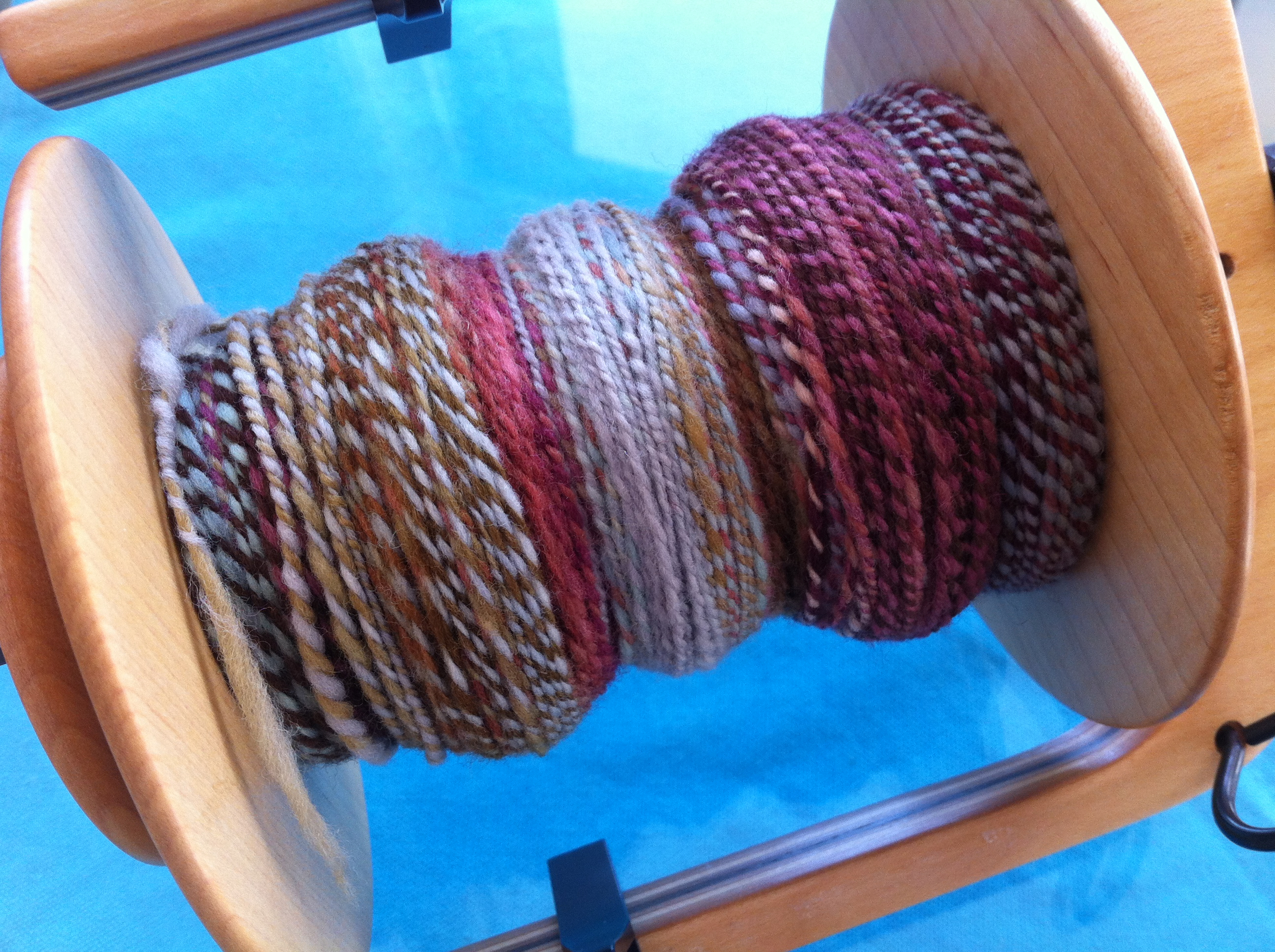 Then I decided to ply those two bobbins together!