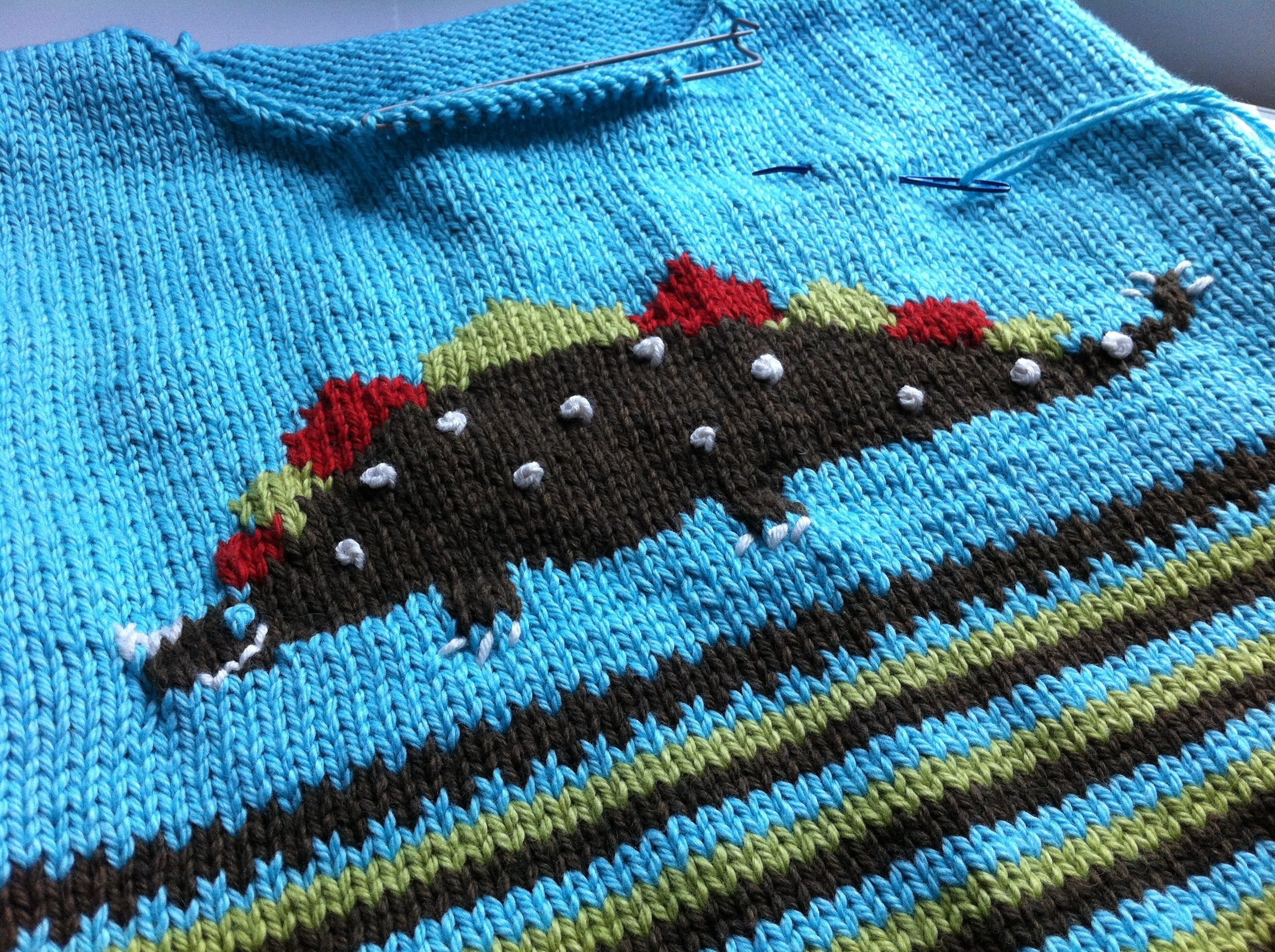 French knots. Which I hate almost as much as I hate intarsia.